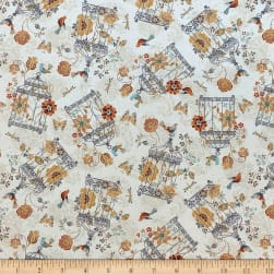 Camelot Wild Spirit Bird Cage Cream Fabric