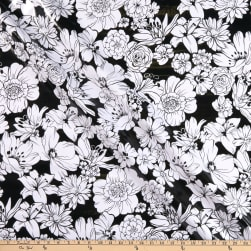 Oilcloth Victoria Black Fabric