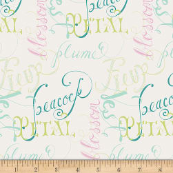 Art Gallery Petal & Plume Nomencrature Soft Fabric