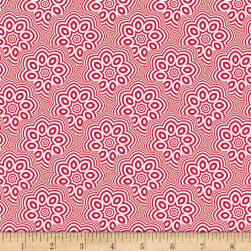 Art Gallery NouvElle Billowing Petals Rouge Fabric