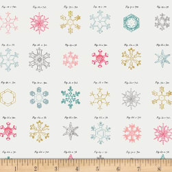 Art Gallery Little Town Snow Crystals Jolly Fabric