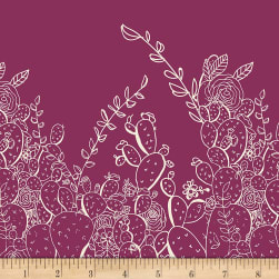Art Gallery Sage Prickly Pear Ruby Fabric