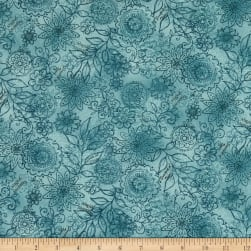 Henry Glass Best Of Days Wall Flower Blue