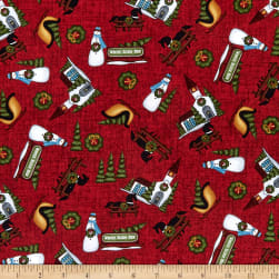 Henry Glass Country Journey Winter Novelty Red