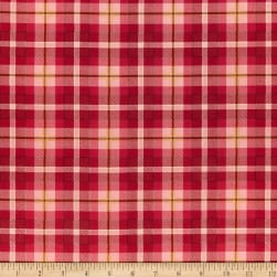 Henry Glass Live Love Meow Plaid Red