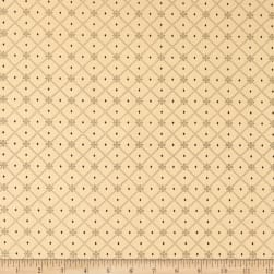 Henry Glass Blush & Blue Diamond Lattice Cream Fabric