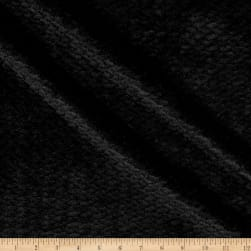 Double Sided Textured Fleece Black Fabric