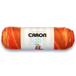 Caron Simply Soft Ombres Yarn, Gold Ombre