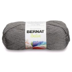 Bernat Satin Yarn Gray Mist Heather