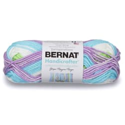 Bernat Handicrafter Cotton Stripes Yarn Violet Stripes