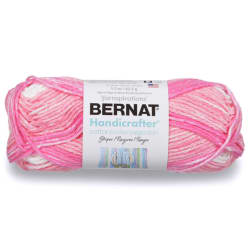 Bernat Handicrafter Cotton Stripes Yarn Pinky Stripes