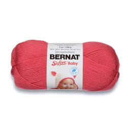 Bernat Softee Baby Yarn, Soft Red