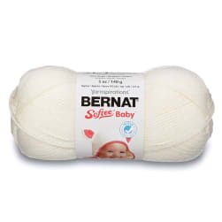 Bernat Softee Baby Yarn, Antique White