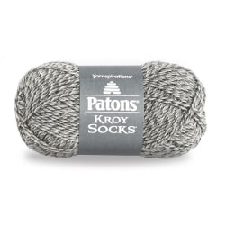 Patons Kroy Socks Yarn, Gray Marl