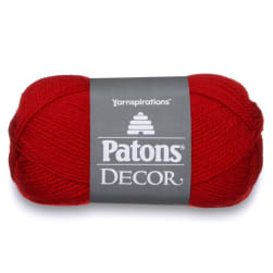 Patons Decor Yarn, Barn Red