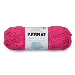 Bernat Handicrafter Cotton Yarn (50g/1.5 oz) Hot Pink