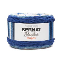 Bernat Blanket Stripes Yarn (300g/10.5 oz), Blue Moon