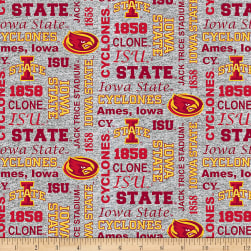NCAA Iowa State Cyclones Heather Verbiage Fleece Multi