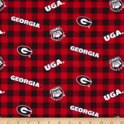 NCAA Georgia Bulldogs Buffalo Plaid Cotton