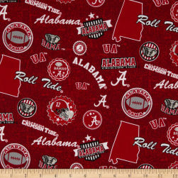 NCAA Alabama Crimson Tide Home State Red/Black/White/Grey Fabric