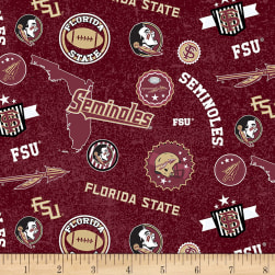 NCAA Florida State Seminoles Seminoles Home State Maroon/Gold/Black/White Fabric