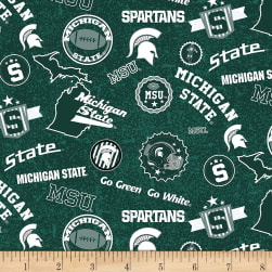 NCAA Michigan State Spartans Home State Green/White/Gray Fabric