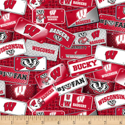 NCAA Wisconsin Badgers License Plate Cotton Multi