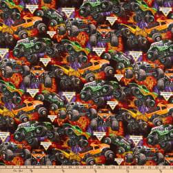 Monster Jam Packed Monster Trucks Multi Fabric