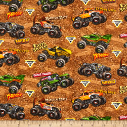 Monster Jam Tossed Monster Trucks on Dirt Multi