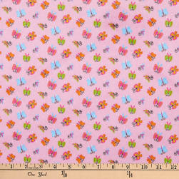 Michael Miller Minky Puppy Playtime Butterfly Dazzle Blossom