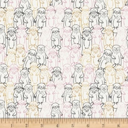 Art Gallery Pine Lullaby Rediscovered Snuggery Warmth Black/White/Pink/Yellow Fabric