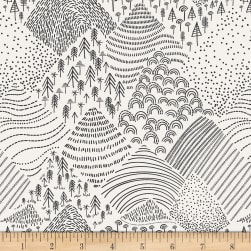 Art Gallery Pine Lullaby Rediscovered Mountain Pines Black/White Fabric