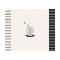 Art Gallery Pine Lullaby Rediscovered Bear Hug 36'' Panel Black/White/Yellow Fabric