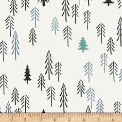 Art Gallery Pine Lullaby Stretch Jersey Knit Loblolly Pine Fabric