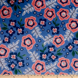 Shannon Studio Digital Minky Cuddle Flor Bluebell