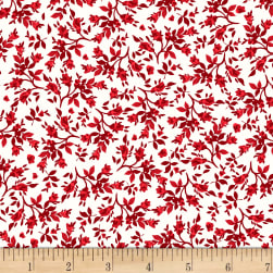 StofDenmark Tiled Up Flowers Red/White