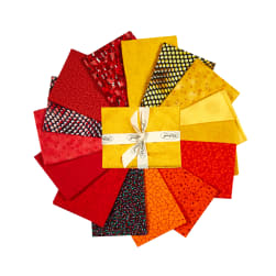 Stoffabric Denmark Quilters Coordinates 15 pc Fat Quarters Yellow/Red