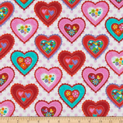 Studio E Love Is Forever Large Hearts White/Pink