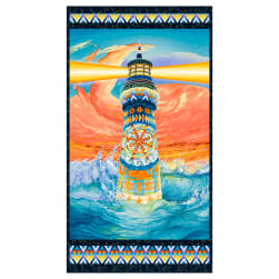The Lightkeeper's Quilt 24'' Lighthouse Panel Fabric