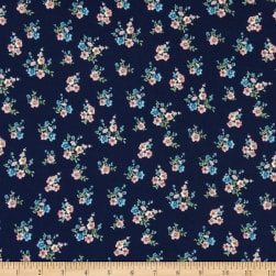 Double Brushed Poly Jersey Knit Mini Floral Bouquet