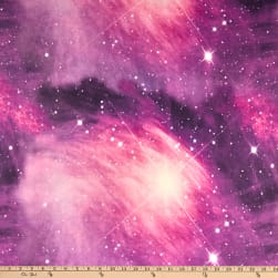 Double Brushed Poly Jersey Knit Galaxy Pink/Violet
