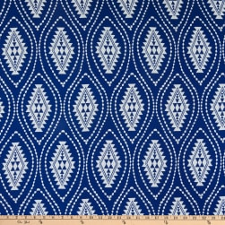 Rayon Challis Aztec Inspired Navy/Ivory