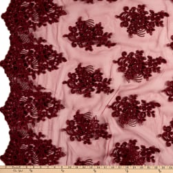 Camilla Sequin Lace Burgundy