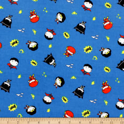 DC Comics Tiny Heroes Bamboo Rayon Flannel Blue