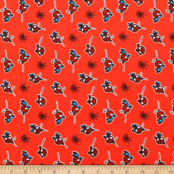 Marvel Spiderman Flannel Red Fabric
