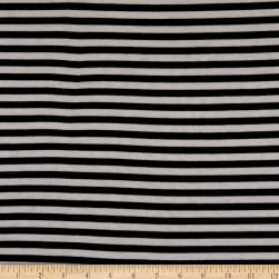 Splendid Apparel Rayon Spandex Jersey Knit Drapey Lux Stripe Black/White Fabric