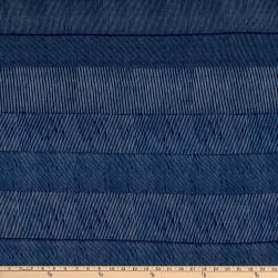 Splendid Apparel Rayon Spandex Jersey Knit Multi Stripe Navy Fabric