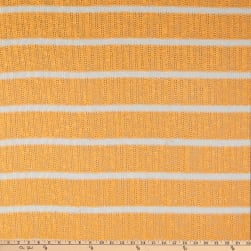 Fabric Merchants Splendid Apparel Loose Sweater Knit Stretch Stripe Cantelope/White