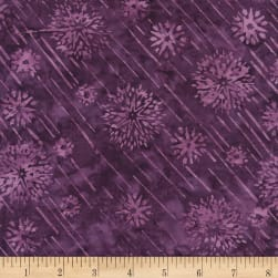 Timeless Treasures Tonga Batik Melonberry Shooting Stars Amethyst
