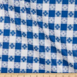 Tavern Check Flannel Backed Vinyl Blue/White Classic Tablecloth